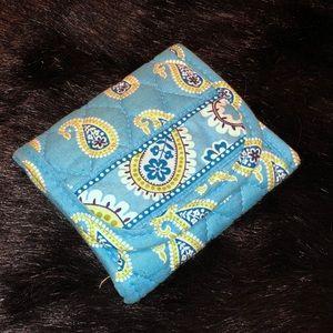 Bermduda Blue Vera Bradley Tri-Fold Wallet